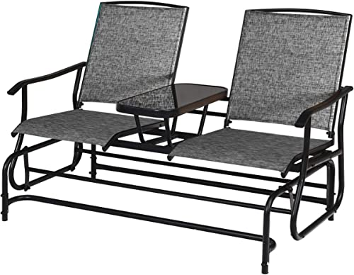 Giantex 2 Person Outdoor Double Glider Chair