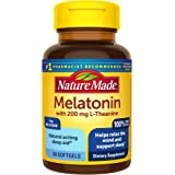 Nature Made Melatonin 3 mg with 200 mg L-theanine Softgels, 60 Count for Supporting Restful Sleep