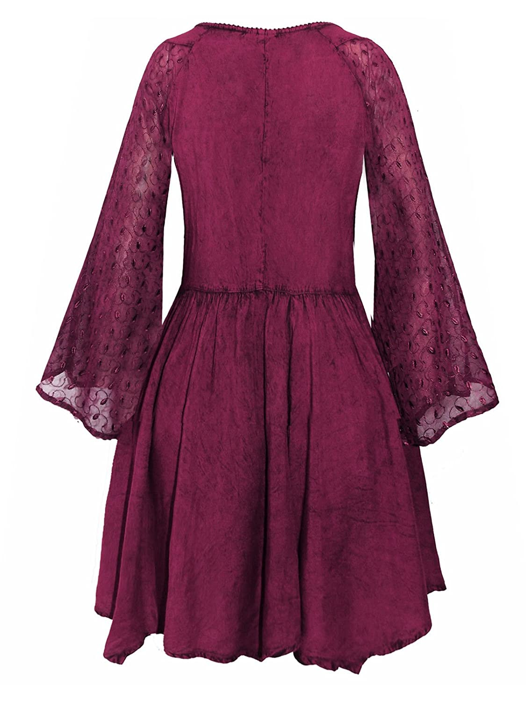8d2ae9e437d Details about Long purple Medieval Princess blouse Top 10 12 14 16 18 20  goth hippie boho fae (18/20): Amazon.co.uk: Clothing