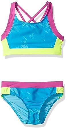 20a44d7b144 Under Armour Big Girls Bikini, Oasis Meridian Blue, 7