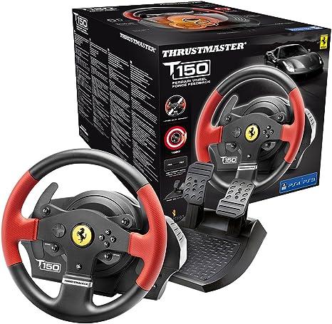 Oferta amazon: Thrustmaster T150 Ferrari Edition, Volante PS4 / PS3 / PC Force Feedback, Licencia Oficial Ferrari