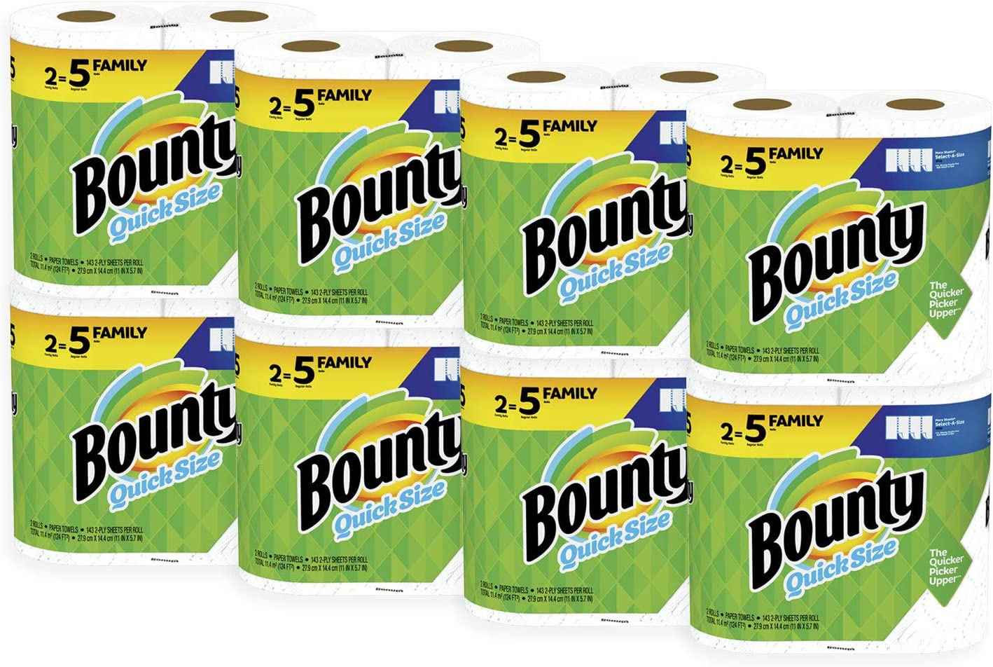 Bounty Quick-Size Paper Towels 16 Count Family Rolls