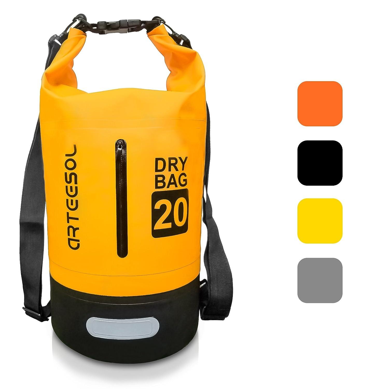 ARTEESOL Dry Bag - 5L/10L /20L /30L Wasserdichte Packsack/Trockentasche, Verstellbarer Schultergurt Inklusive, Geeignet für Kajak-, Boot-, Kanufahren/Angeln/ Rafting/Schwimmen/ Camping/Snowboarden Geeignet für Kajak-