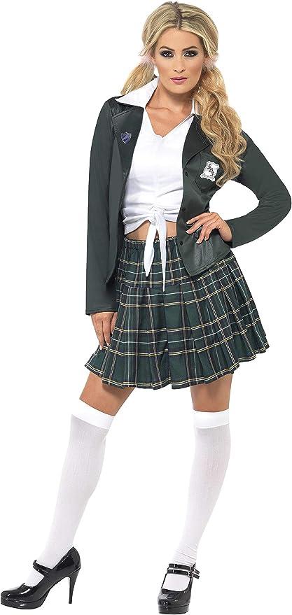 Smiffys Smiffys-34167M Traje Escolar de Chica de Bachiller, con ...
