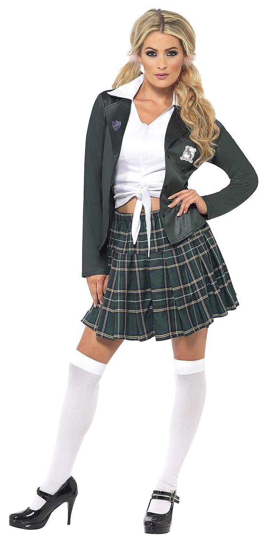 Smiffys Smiffys-34167M Traje Escolar de Chica de Bachiller ...