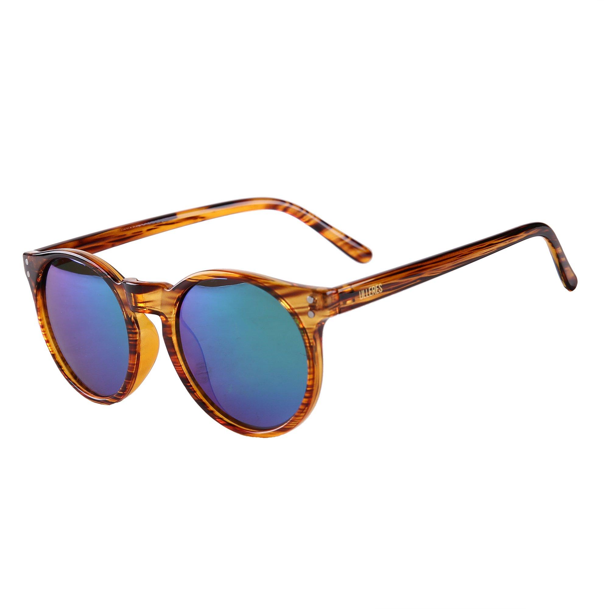 ULLERES Unisex UV Protection Polarized Sunglasses (Strip DEMI, 49)