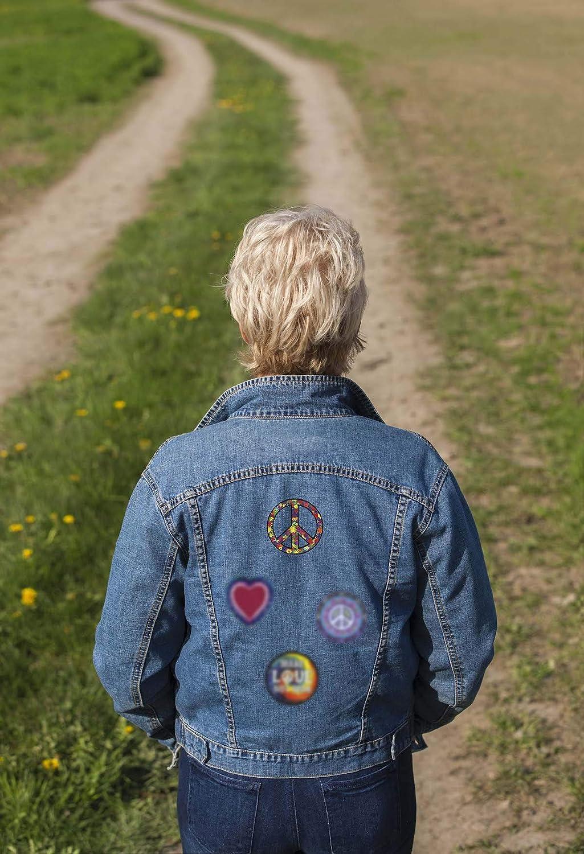 C /& D visionnaire Tissu Patch-Flower Signe de la Paix