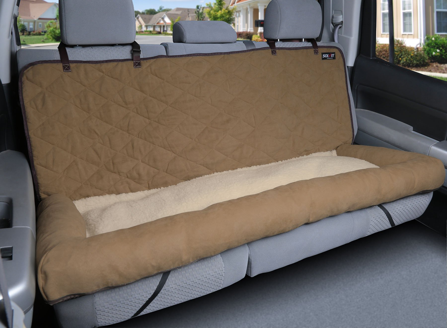 Solvit 62454 Car Cuddler, Large, Brown