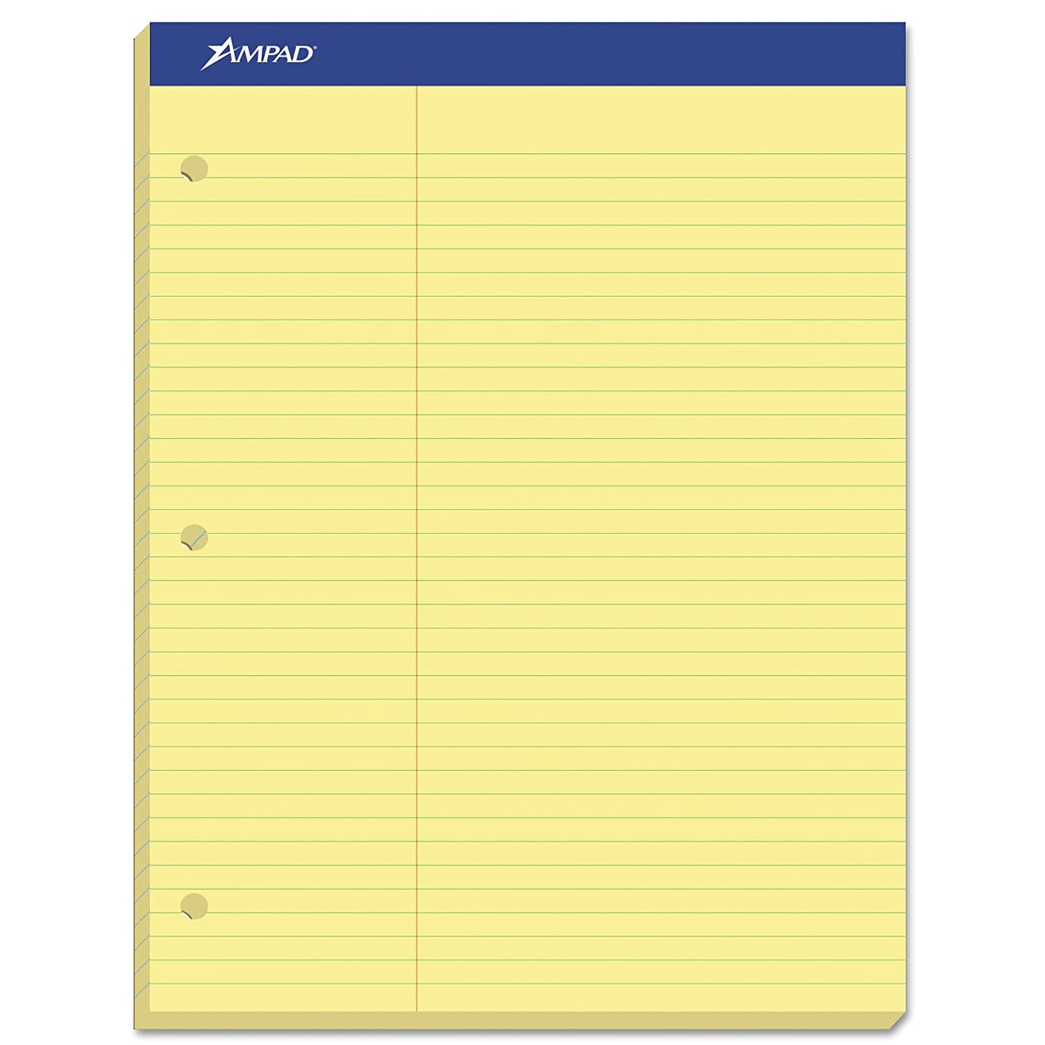 Ampad Evidence Dual Ruled Pad, Law Ruling, Size 8.5 x 11.75 Inches, Canary Paper, 100 Sheets Per Pad (20-245) #N/A!