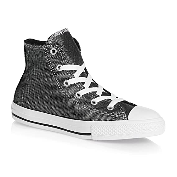 Converse BTS Shimmer Chuck All Star Hi Top Yth Jr Sneakers -Silver-654213C   Amazon.co.uk  Clothing 182f725bc48