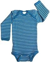 Hocosa Organic Merino Wool Snap-Bottom Shirt, Long Sleeves for Baby/Toddler