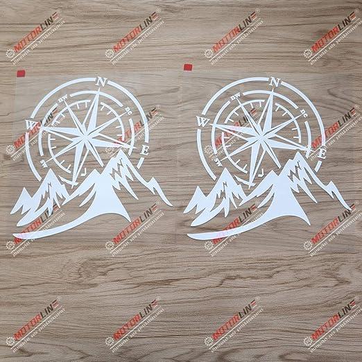 2 X Weiße 20 3 Cm 4 X 4 Off Road Aufkleber Mountain Kompass Auto Vinyl Fit Für Jeep Ford Chevy Etc Küche Haushalt
