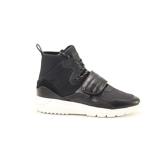 Hogan Hombre Gym3710ay70k0r0xcr Negro Cuero Zapatillas Altas: Amazon.es: Zapatos y complementos
