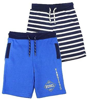 950299360ac Boys Pack Of 2 Varsity Rebel Cotton Summer Shorts Blue Stripe sizes from  1.5 to 8 Years  Amazon.co.uk  Clothing