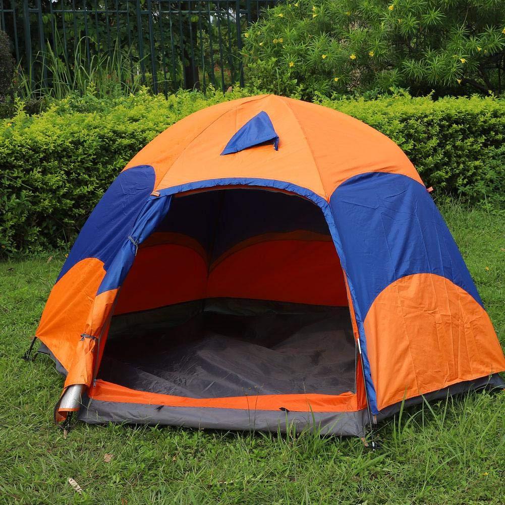 VGEBY テント 防水 2層 5~8人用 六角形テント キャンプ ハイキング ピクニック ビーチ 釣り   B07H6F5GWX