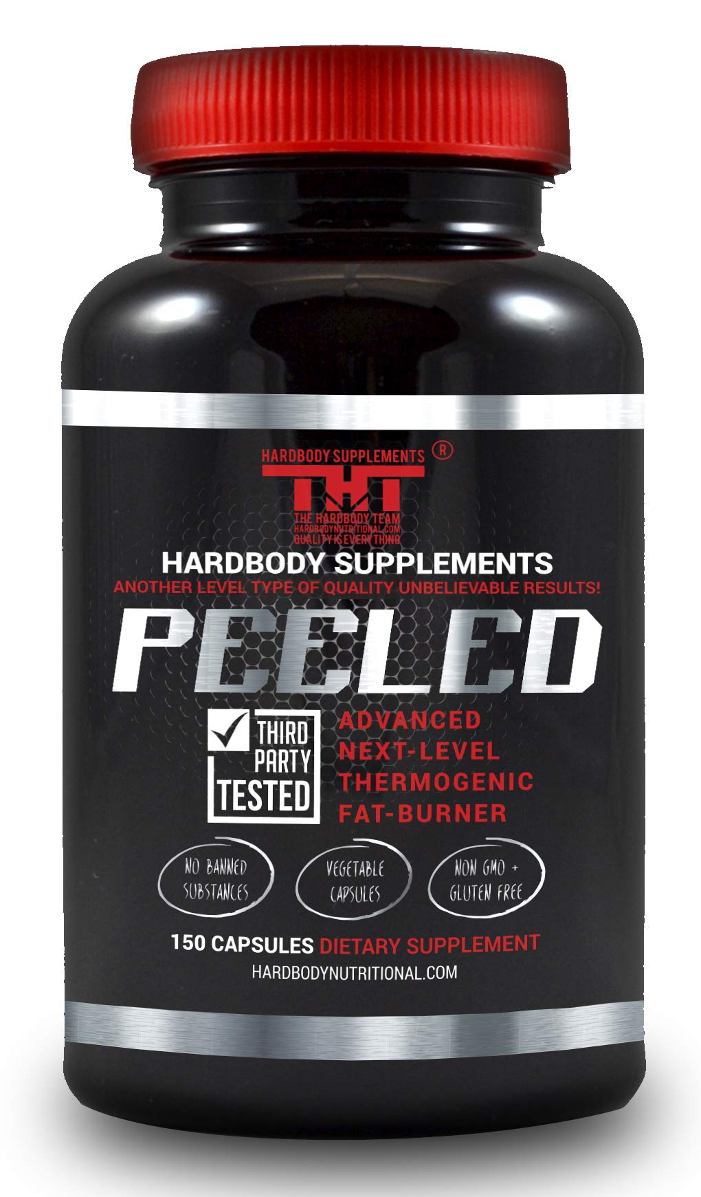 Peeled Thermogenic Fat Burner and Diet Pill for Men and Women. Boost Metabolism, Suppress Appetite, Enhance Energy, Supports Mental Clarity,Improves Mood.Garcinia Cambogia, L-Carnitine,B12 (150) by HARDBODY SUPPLEMENTS THT THE HARDBODY TEAM HARDBODYNUTRITIONAL.COM QUALITY IS EVERYTHING