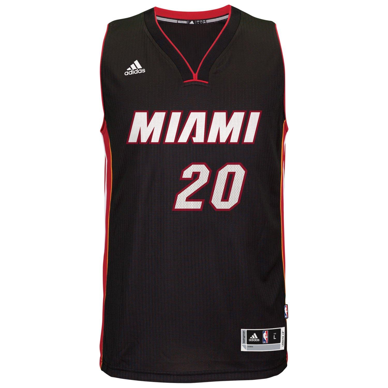 9bc1972d Amazon.com: Justise Winslow Miami Heat #20 Black Youth Adidas Swingman Road  Jersey (Medium 10/12): Clothing
