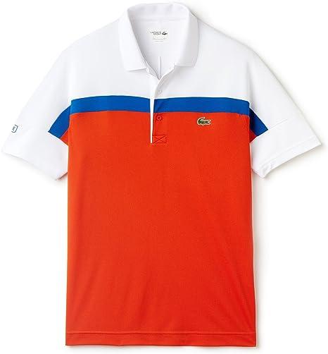 Lacoste – Roland Garros Corta para Ribbed Collar Hombre Tenis Polo ...