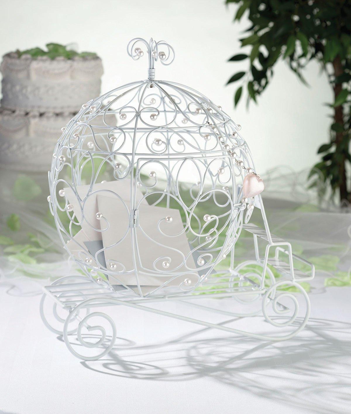 Amazon.com: Lillian Rose Elegant Fairy Tale Coach Wedding Card Box ...