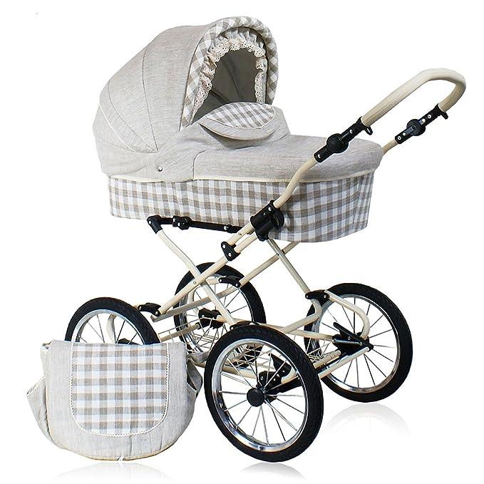 Cochecito bebé 3 piezas Belletti ECO Natural: Amazon.es: Bebé