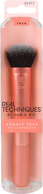 Real Techniques Professional Foundation Makeup Brush, For Even Streak Free Application,