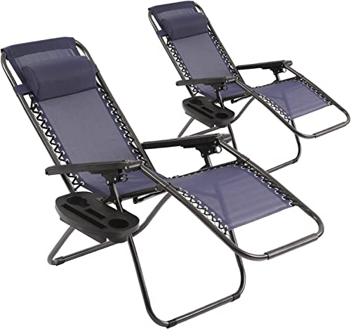 Vnewone Patio Chairs Set of 2 Zero Gravity Chair Folding Chairs Outdoor Chairs Anti Gravity Chair Reclining Outdoor Folding Chairs Lounge Chair Deck Chairs Foldable Yard