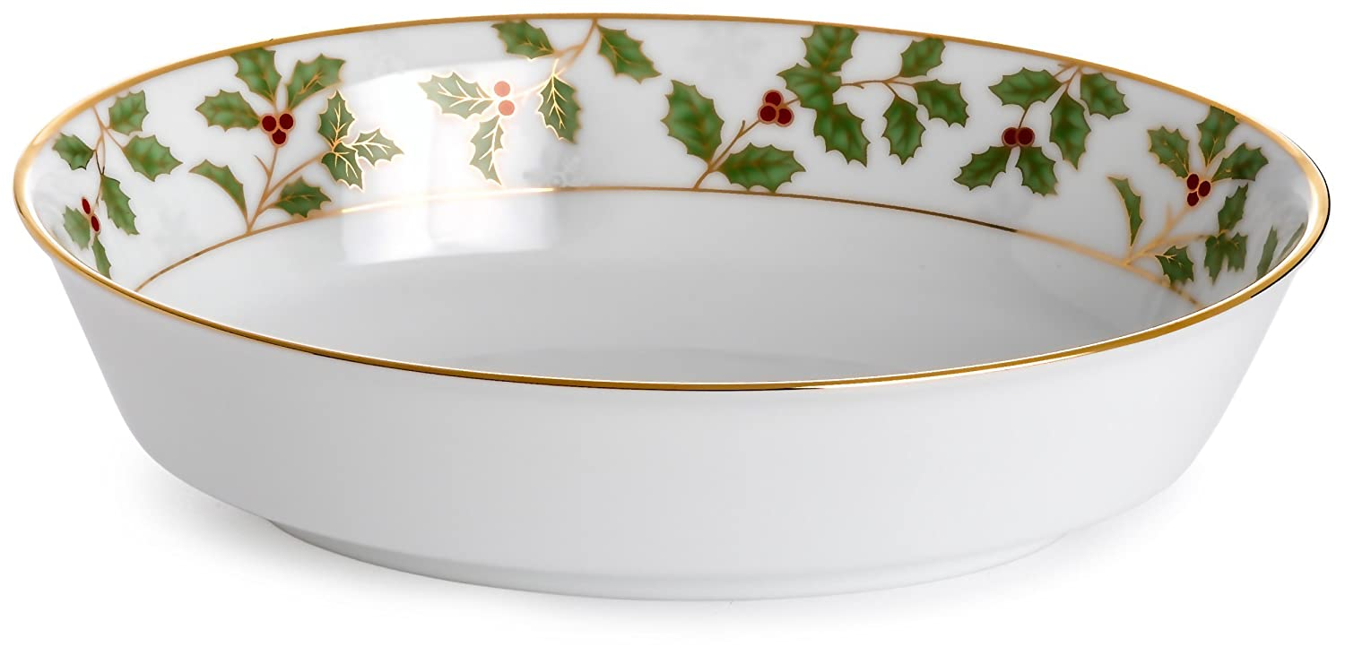 Noritake Holly & Berry Gold Oval Vegetable Bowl 4173-415