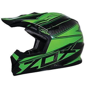 ZOX Matriz para hombre calle casco de moto – Carbono abismo verde