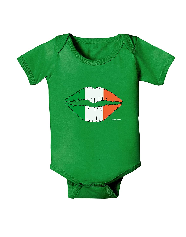 TooLoud Irish Flag Kiss Baby Bodysuit Dark