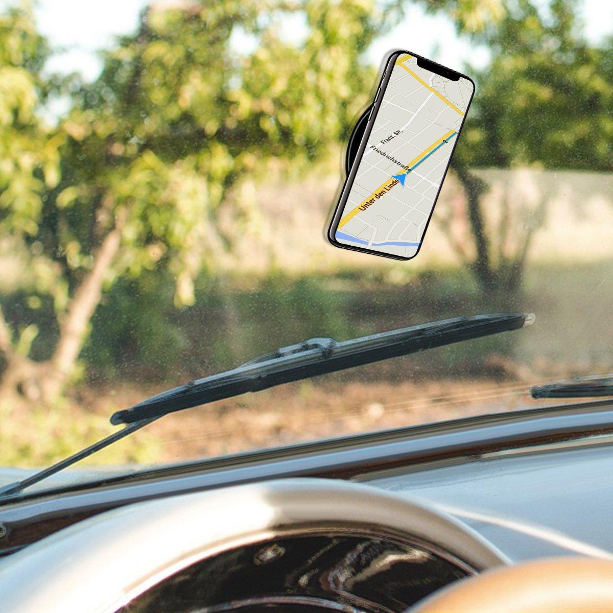 kwmobile Set 3 Almohadillas Autoadhesivas de Gel Pads para sujeci/ón de m/óvil GPS Tablet 3X Almohadilla Antideslizante de Silicona Transparente