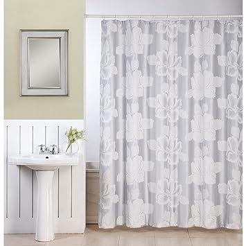 Amazon.com: Ellen Tracy Flower Shower Curtain: Home & Kitchen