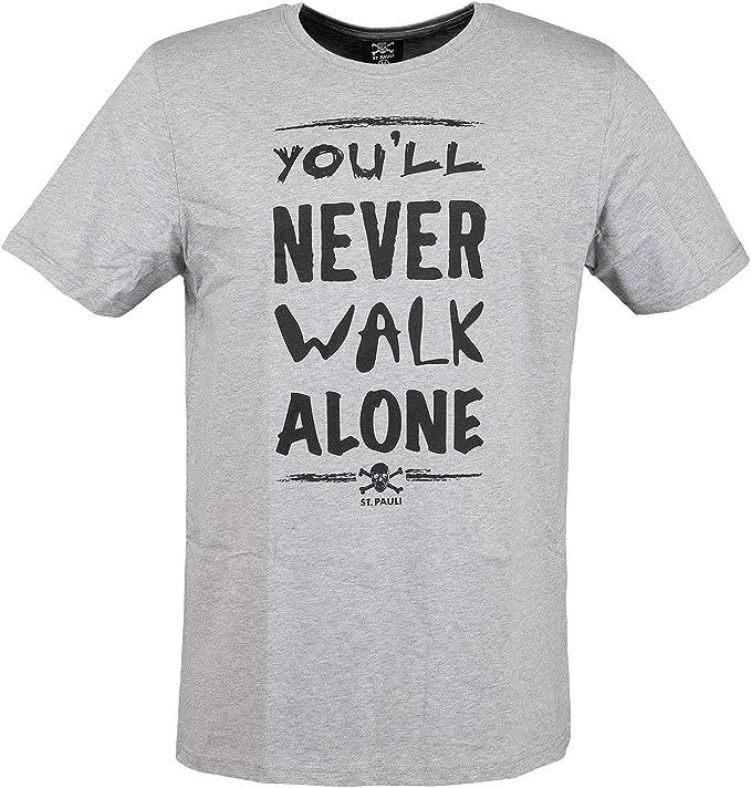 FC St. Pauli You ́ll Never Walk Alone - Camiseta, M, Gris: Amazon ...