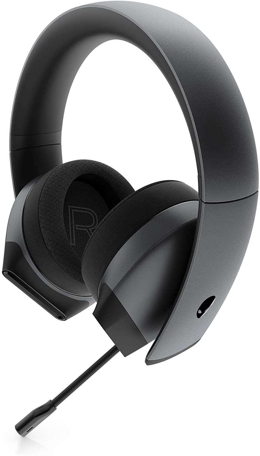 Alienware 7.1 PC Gaming Headset AW510H-Dark: 50mm Hi-Res Drivers - Noise Cancelling Mic - Multi Platform Compatible(PS4,Xbox One,Switch) via 3.5mm Jack
