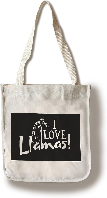 Cotton Tote Bag I Love Llamas