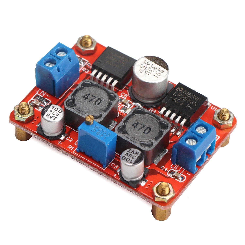 Drok Dc 35 28v To 125 26v Lm2596 Lm2577 Boost Switching Regulators Using Lm2575 And Buck Voltage Converter Volt Regulator Power Supply Module Industrial Scientific