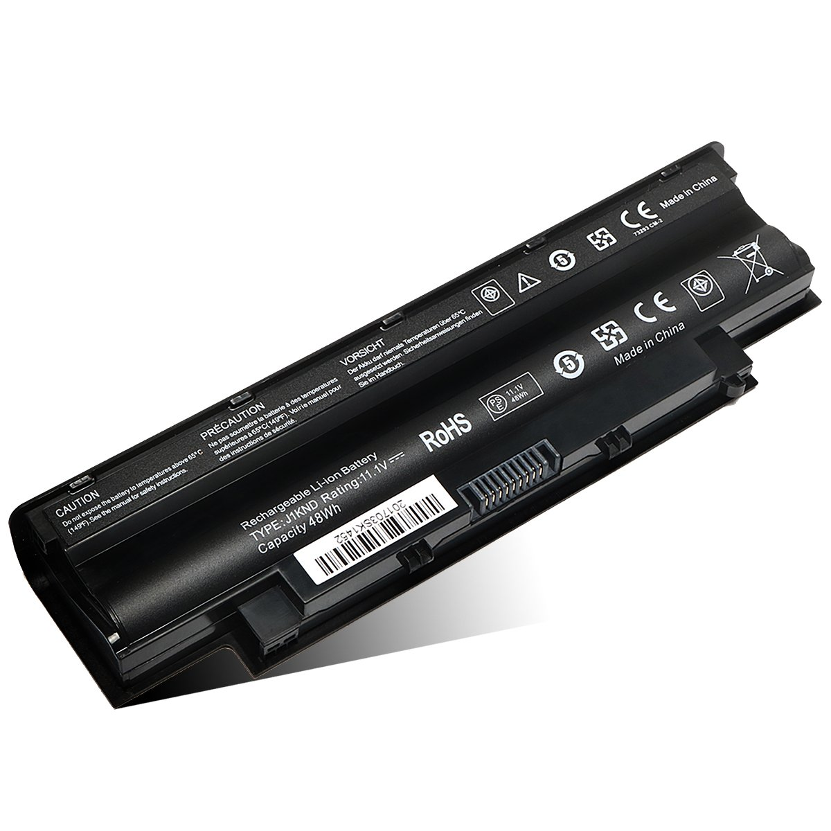New Replacement Laptop Battery for Dell Inspiron 13R N3010 N3110 14R N4010 N4110 N4050 15R N5010 N5110 N5030 N5040 N5050 17R N7010 N7110 P/N: J1KND TKV2V 4T7JN W7H3N 04YRJH 06P6PN -- 12 Month Warranty