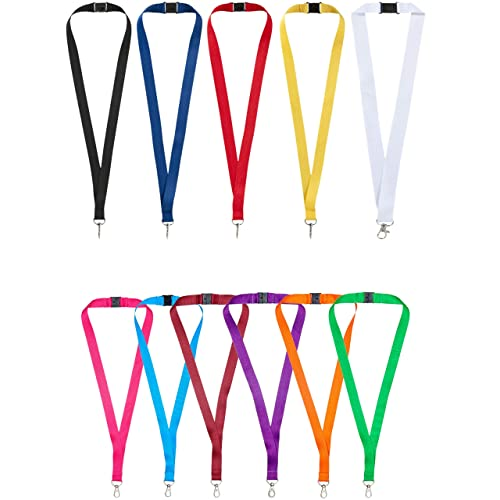 1 x Personalised Printed Lanyard. Lanyard for holding a name badge, ID card or keys. Red, Blue, Black, Yellow, White (Blue)