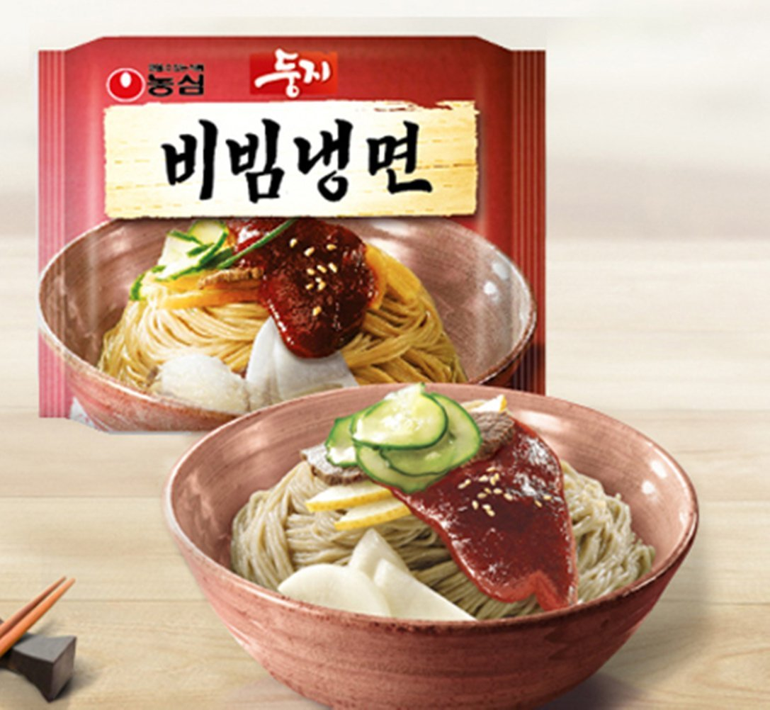 Nongshim/ Dungji Bibim Naengmyeon(korean Cold Noodles) 4ea,korean Instant Noodle, Korea Ramen Ramyun Nutritious Snacks Promotional Gifts Party Food