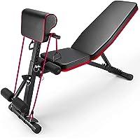 AJUMKER Verstelbare halterbank, 4-in-1 thuistraining Gym Gewichtheffen Bench Zittend Bench Workout Training Beenoefening…