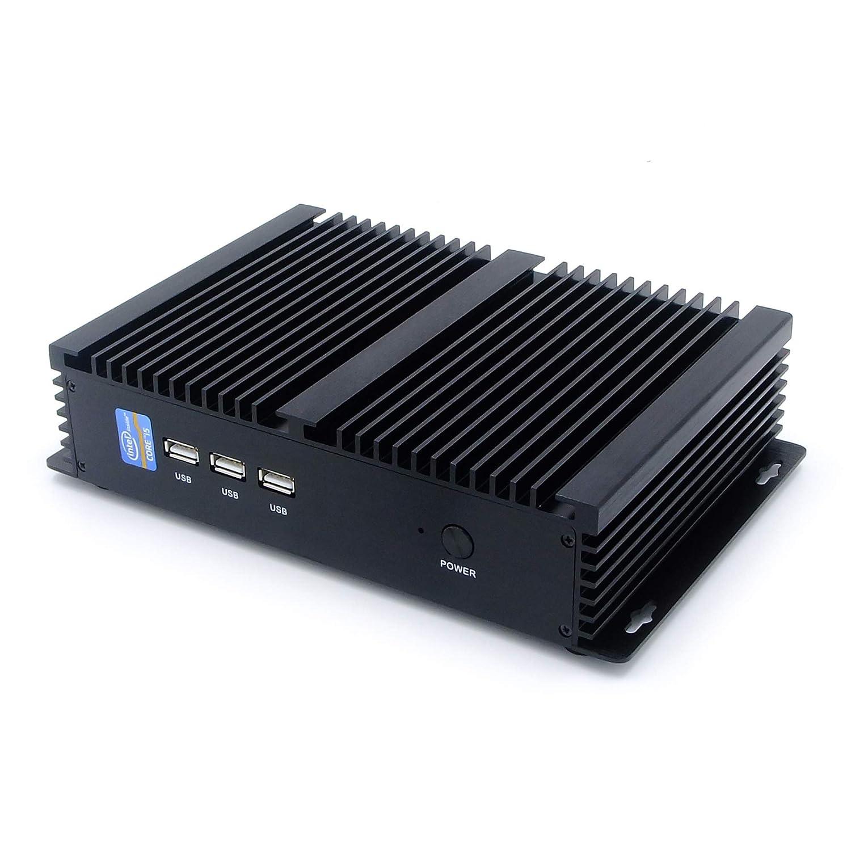 HISTTON Fanless Mini PC Windows 10 Intel Celeron 1007U 4GB Ram 64GB SSD 1TB HDD Support DIY SSD/HD Graphics/HDMI & VGA Dual Output/Wi-Fi/Bluetooth 4.0/4K Micro Desktop Computer