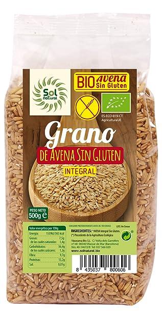 Sol Natural Avena en Grano, sin Gluten - Paquete de 6 x 500 gr -
