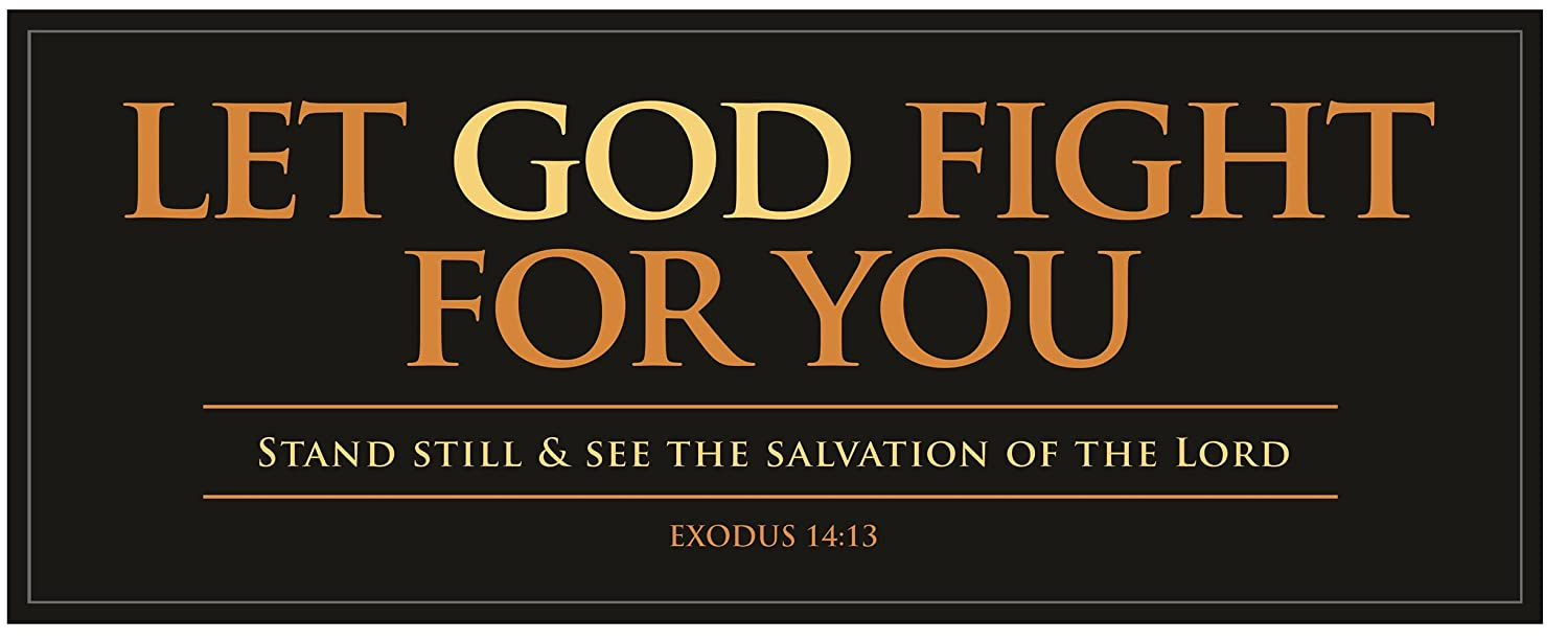 Carpentree Let God Fight for You Canvas Wall Art, 10 Length x 4 Height x 1/2 Width 83655