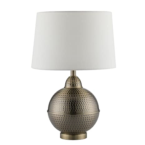 Delicieux CO Z Hammered Pot Table Lamps, Large Modern U0026 Contemporary White Shade With  Handcrafted