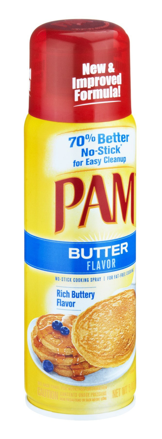 Pam Butter Flavor No-Stick Cooking Spray 5 OZ (Pack of 24)