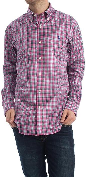 Camisa Polo Ralph Lauren Cuadros Malva XXL Morado: Amazon.es: Ropa y accesorios