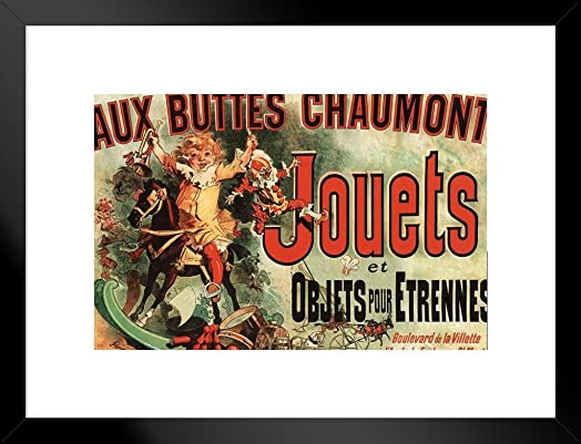 Poster Foundry Aux Buttes Chaumont Jouets Jules Cheret Matted Framed Wall Art Print 20×26