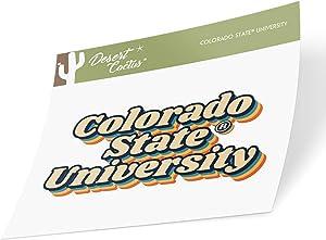 Colorado State University CSU Rams NCAA Vinyl Decal Laptop Water Bottle Car Scrapbook (70's Name Sticker)