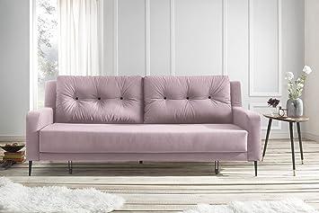 Divano Rosa Antico : Bobochic bergen divano di 3 coperti convertibile tessuto rosa cipria