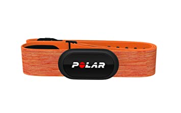 Polar H10 Sensor de frecuencia cardíaca - ANT+, Bluetooth, ECG resistente al agua con banda elastica pectoral- Naranja Talla M/XXL