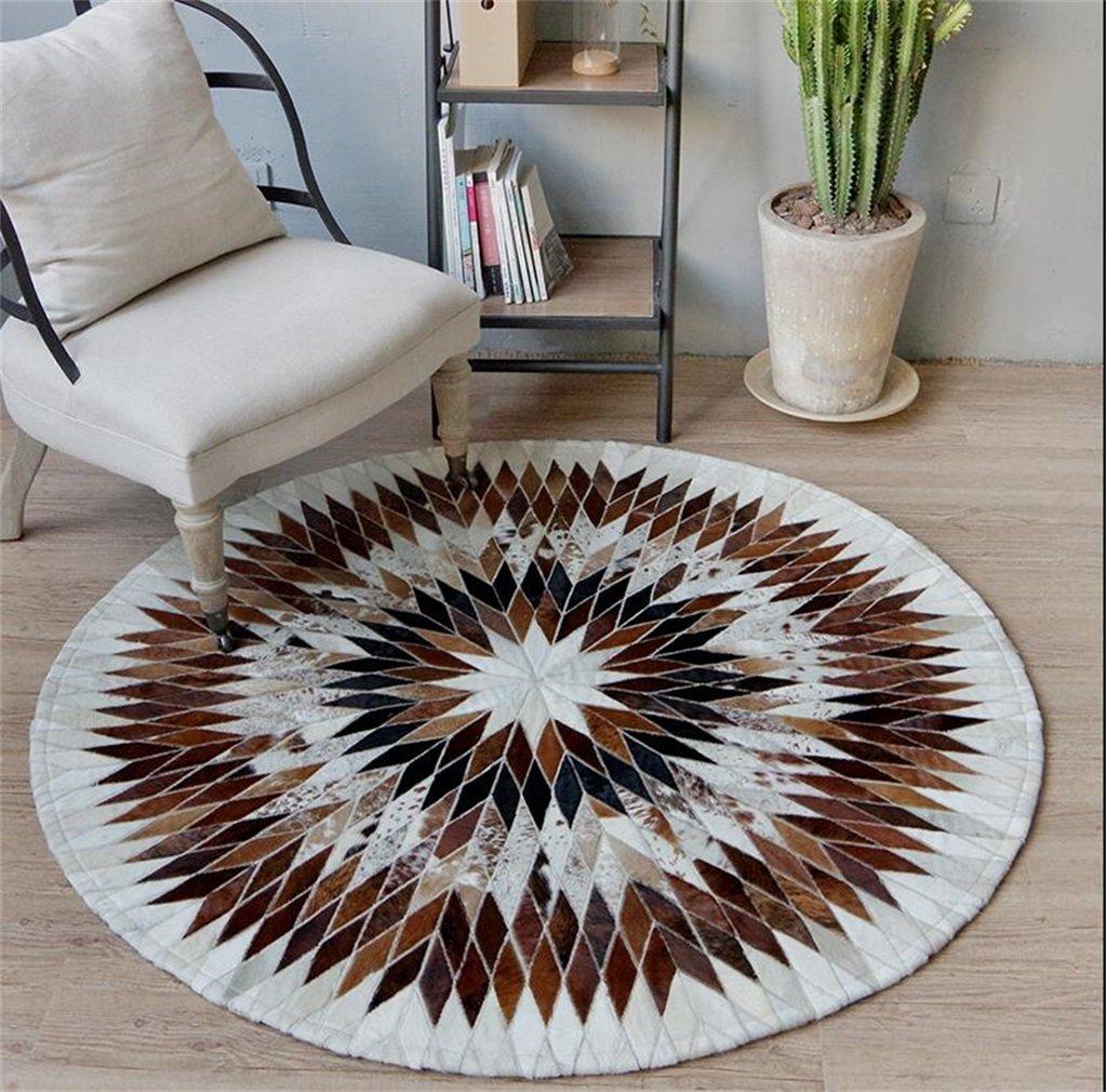ZXH Runder Kuhfell-Teppich-Computer-Stuhl-Wohnzimmer-Haus-Persönlichkeits-Kreativitäts-Wolldecke (größe   150cm)